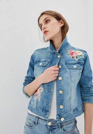 Куртка джинсовая Twinset Milano. Цвет: синий