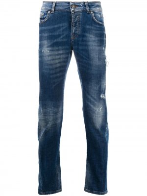 Зауженные джинсы Mick средней посадки John Richmond. Цвет: синий