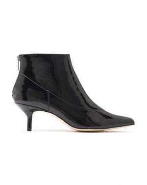 Полусапоги и высокие ботинки HALSTON. Цвет: черный