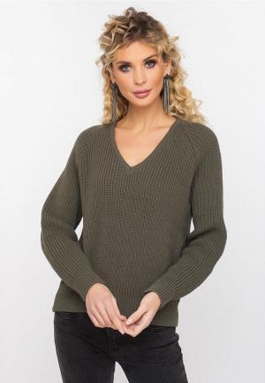 Пуловер Gloss. Цвет: хаки