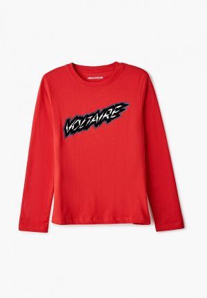 Лонгслив Zadig & Voltaire. Цвет: красный