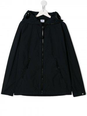 Куртка с линзами на капюшоне C.P. Company Kids. Цвет: синий