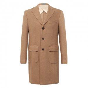 Шерстяное пальто Corneliani. Цвет: коричневый