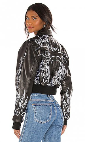 Куртка scribble Understated Leather. Цвет: черный