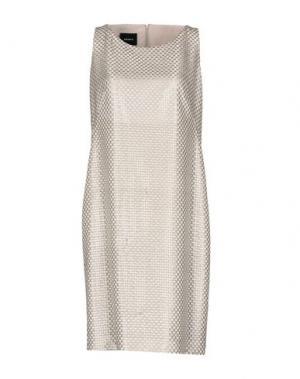 Короткое платье AKRIS. Цвет: серый