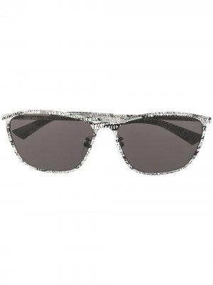 Graphic oval sunglasses Balenciaga Eyewear. Цвет: серый