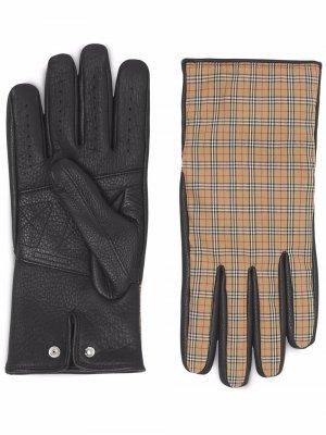 Перчатки в клетку Vintage Check Burberry. Цвет: коричневый