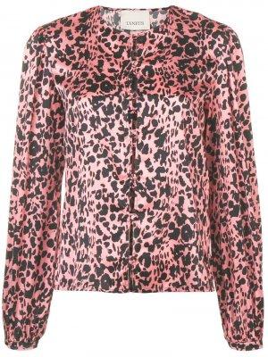 Рубашка с леопардовым принтом Laneus