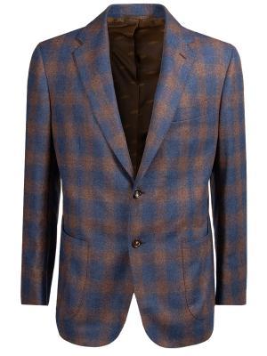 Пиджак шерстяной Stile Latino. Цвет: разноцветный