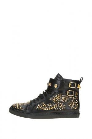 Кеды Versace. Цвет: черный