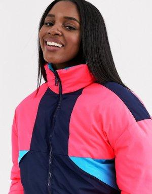 Разноцветная лыжная куртка -Мульти Brave Soul