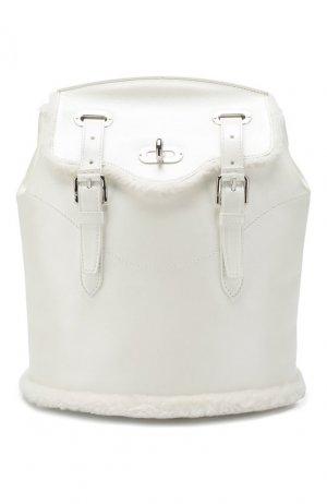 Кожаный рюкзак Ralph Lauren. Цвет: белый