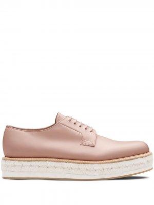 Churchs туфли дерби Shannon на платформе Church's. Цвет: розовый