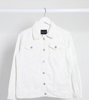 Белая джинсовая куртка -Белый Brave Soul Petite