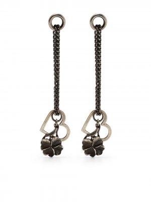 Серебряные серьги-подвески WERKSTATT:MÜNCHEN. Цвет: серебристый
