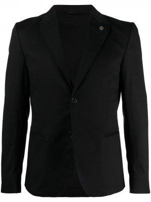Однобортный пиджак с заостренными лацканами Daniele Alessandrini. Цвет: черный