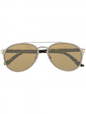 Солнцезащитные очки-авиаторы Cartier. Цвет: серебристый