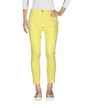 Джинсовые брюки-капри JIJIL. Цвет: желтый