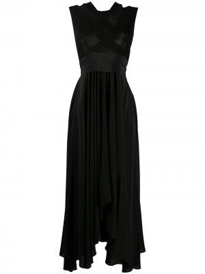 Расклешенное платье макси без рукавов Petar Petrov. Цвет: черный