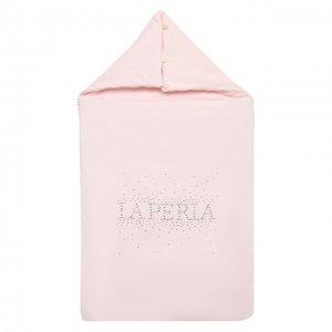 Хлопковый конверт La Perla. Цвет: розовый