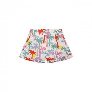 Хлопковые шорты Stella McCartney. Цвет: разноцветный