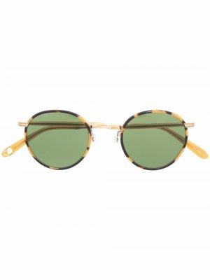 Солнцезащитные очки в круглой оправе Garrett Leight. Цвет: желтый