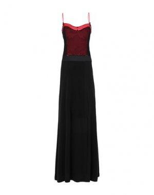 Длинное платье ROMEO GIGLI PLUS. Цвет: черный
