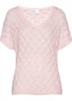 Пуловер bonprix. Цвет: розовый