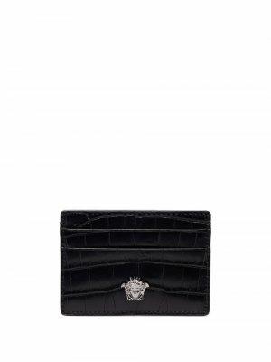 Картхолдер с декором Medusa Versace. Цвет: черный
