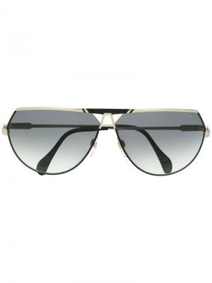 Солнцезащитные очки-авиаторы Cazal. Цвет: черный