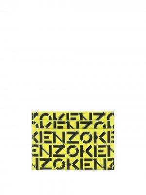 Картхолдер с монограммой Kenzo. Цвет: желтый