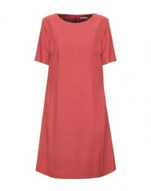 Короткое платье CAPPELLINI by PESERICO. Цвет: кирпично-красный