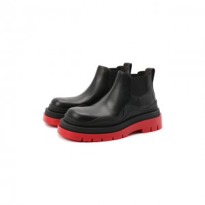 Кожаные ботинки BV Tire Bottega Veneta. Цвет: чёрный