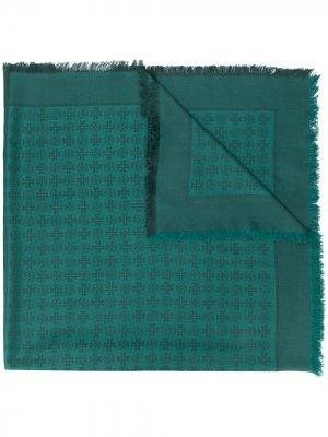 Жаккардовый палантин с узором Tory Burch. Цвет: зеленый