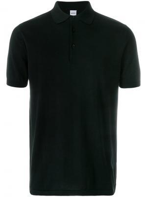 Рубашка-поло узкого кроя Aspesi. Цвет: черный