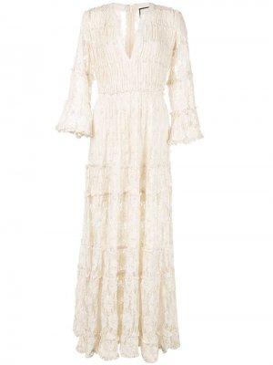 Кружевное платье макси Alexis