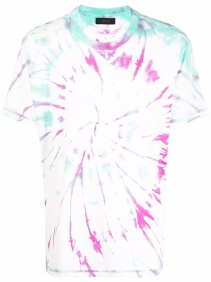 Tie dye-print cotton T-shirt AMIRI. Цвет: белый