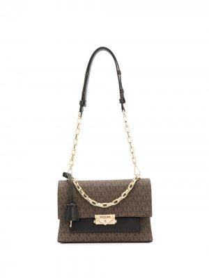 Большая сумка на плечо Cece Michael Kors. Цвет: коричневый