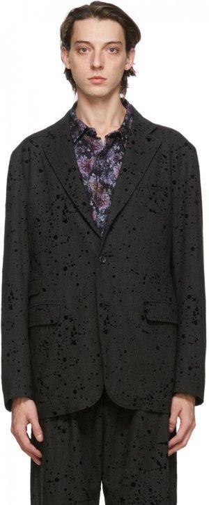 Grey Splatter Lawrence Jacket Engineered Garments. Цвет: cm004 charc