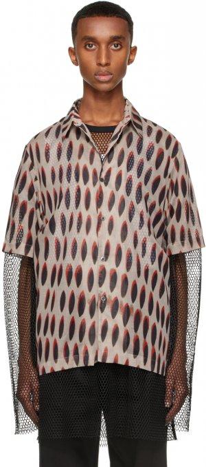 Grey Len Lye Edition Graphic Short Sleeve Shirt Dries Van Noten. Цвет: 802 grey