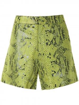 Фактурные шорты Eva. Цвет: зеленый