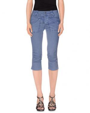 Джинсовые брюки-капри HIGH. Цвет: синий