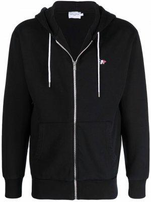 Embroidered-logo track jacket Maison Kitsuné. Цвет: черный