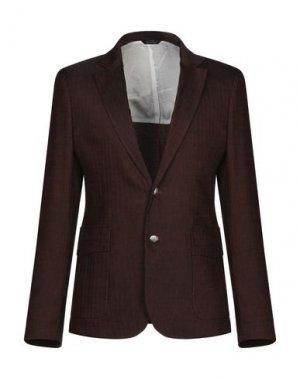 Пиджак GAZZARRINI. Цвет: темно-коричневый