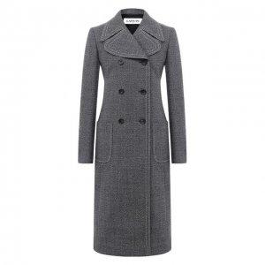 Шерстяное пальто Lanvin. Цвет: синий