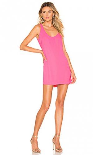 Платье selia Amanda Uprichard. Цвет: розовый