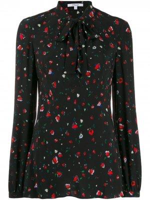 Блузка с цветочным принтом Derek Lam 10 Crosby. Цвет: черный