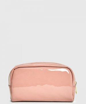 Лакированная косметичка O`Stin. Цвет: бледно-розовый