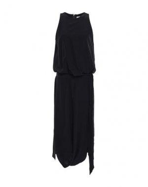 Платье длиной 3/4 CHALAYAN. Цвет: черный