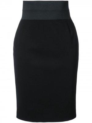 Облегающая юбка Akris Punto. Цвет: черный